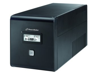 PowerWalker UPS POWER WALKER LINE-INTERACTIVE 1000VA 2X 230V PL + 2XIEC OUT, RJ11/RJ45 IN/OUT, USB, LCD