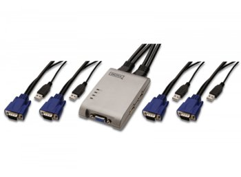 Digitus Mini KVM switch 4PC, USB, 2048x1536, 200MHz, 1,2m