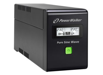PowerWalker UPS LINE-INTERACTIVE 800VA 2X PL 230V, PURE SINE    WAVE, RJ11/45 IN/OUT, USB, LCD