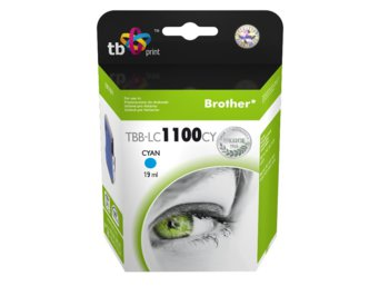 TB Print Tusz do Brother LC980/1100 TBB-LC1100CY CY 100% nowy
