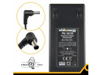 Whitenergy Zasilacz 19.5V | 6.15A 120W wtyk 6.5*4.4mm + pin Sony 04129