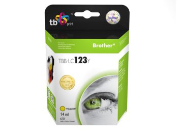 TB Print Tusz do Brother LC123 Yellow TBB-LC123Y
