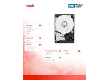 Western Digital Purple WD20PURX 2TB 64MB  SATAIII 5400rpm