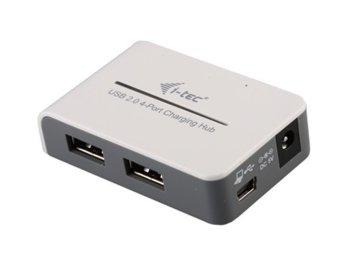 i-tec USB 2.0 Charging HUB 4 port with Power Adapter, 12m Distance Support