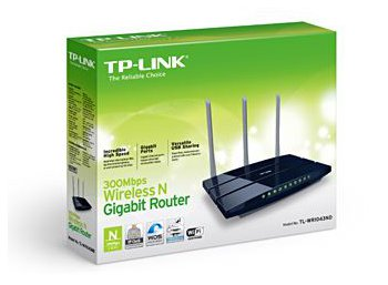 TP-LINK WR1043ND router xDSL WiFi N300 (2.4GHz) 1x1GB WAN 4x1GB LAN 1xUSB (PS/HDD) 3x5dBi (SMA)