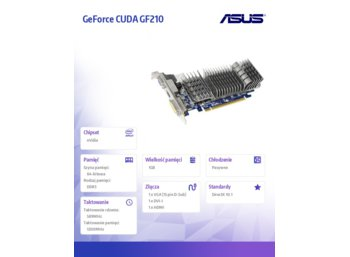 Asus GeForce GF 210 1GB DDR3 PCI-E 64BIT D-SUB/DVI/HDMI LP BOX