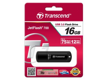 Transcend JETFLASH 700 16GB USB 3.0 BLACK 75/12 MB/s