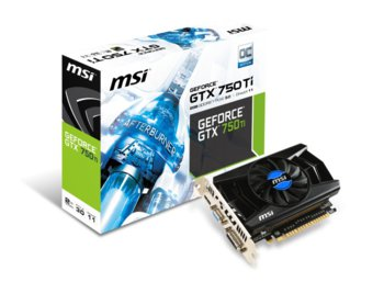 MSI GeForce CUDA GTX750Ti (N750Ti 2GD5/OCV1)