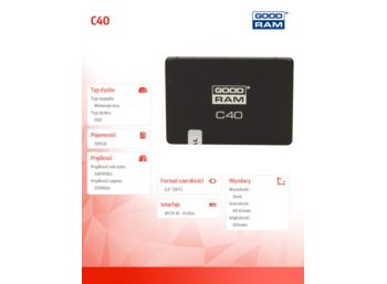 GOODRAM SSD C40 120GB  SATA3 2,5  480/175 MB/s 7mm