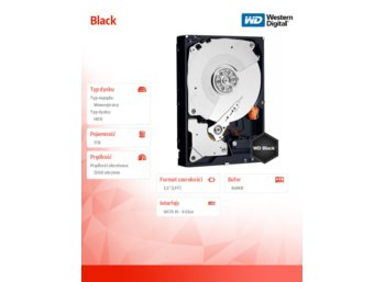 Western Digital BlackWD1003FZEX 1024G 64MB SATAIII 7200rpm