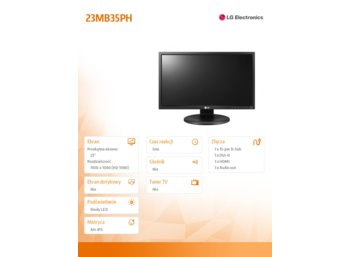 LG Electronics 23'' 23MB35PH-B  D-sub/DVI/HDMI
