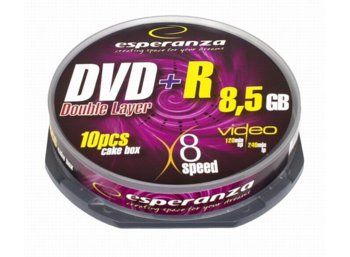 Esperanza DVD+R 8,5GB Double Layer x8 - Cake Box 10