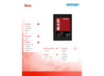 Patriot SSD Blaze 60GB 530/430 MB/s 7mm