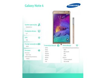 Samsung N910C Galaxy Note 4 White Gold