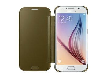 Samsung Clear View Cover Galaxy S6 GOLD
