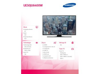 "Samsung 50"" TV Slim LED Ultra HD UE50JU6400WXXH"