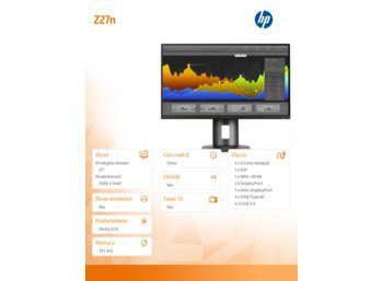 HP Inc. 27'' Z27n UNB IPS Display          K7C09A4