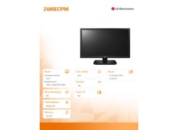 LG Electronics 23.8'' 24MB37PM  LED 5ms, 1920x1080, IPS