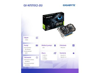 Gigabyte GeForce GTX 750 Ti OC 2GB DDR5 128BIT 2DVI/2HDMI BOX
