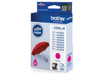 Brother LC-225XLM inkoust magenta, 1200 st