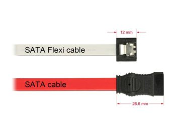 Delock Kabel SATA DATA 50cm Flexi 6Gb/s biały