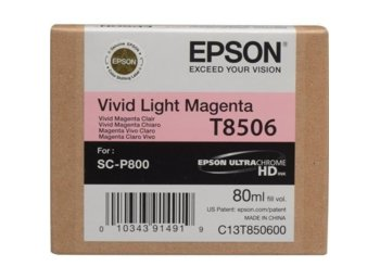 Epson Singlepack Photo Vivid Light Magenta cartridge, T850600