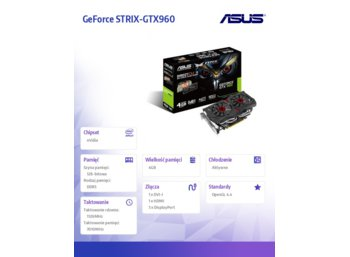 Asus GeForce CUDA STRIX-GTX960 DC2-4GD5