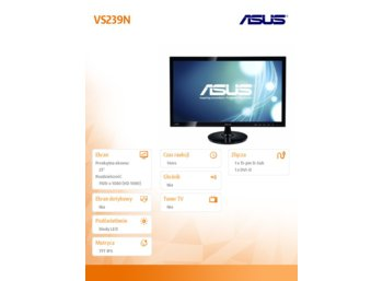 "Asus ""23' LED VS239NV"