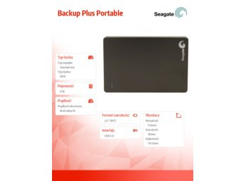 Seagate STDR2000200 2TB 2,5''USB3.0 Backup Plus