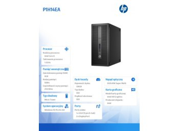 HP 800 G2ED TWR i5-6500 128/8GB/Win10    P1H14EA