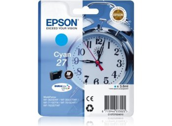 Epson Tusz T2702 CYAN   3.6ml do WF-3620/7110/7610