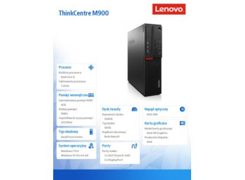 Lenovo ThinkCentre M900 SFF 10FH0018PB Win7Pro & Win10Pro64bit i5-6500/4GB/500GB SSHD/DVD Rambo/3 Years On Site