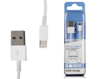 Whitenergy Kabel iPHONE USB Lightning 200 cm biały