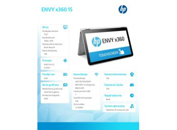 HP Inc. ENVY x360 15  i5-6200U 1TB/4GB/W10/15,6 T9P82EA