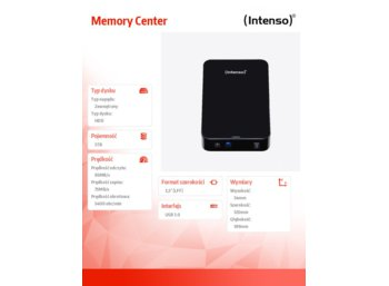 Intenso 5TB 3,5'' HDD USB 3.0 MEMORYCENTER Black