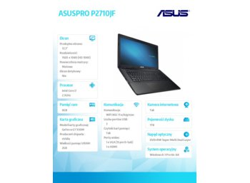 Asus ASUSPRO P2710JF-T4076G W7/8P i7-4712MQ/8/1T/GT930/17.3