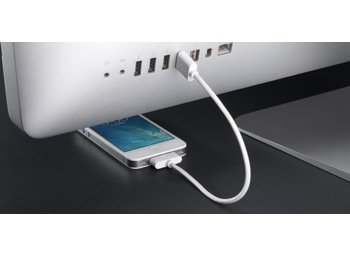 BlueLounge Kabel Apple Lightning 20cm biały