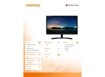 LG Electronics 24'' 24MP58VQ-P LED IPS 5ms HDMI DVI D-sub