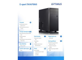 OPTIMUS E-sport i3-4170/4GB/1TB/GT740