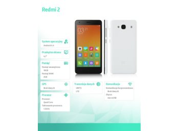 XIAOMI Redmi 2 16GB DS. White