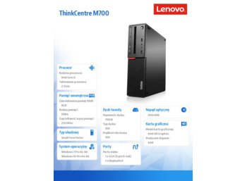 Lenovo ThinkCentre M700 SFF 10GT002APB W7P&W10Pro i5-6400/8GB/SSD 192GB/Integrated/DVD Rambo/3YRS OS