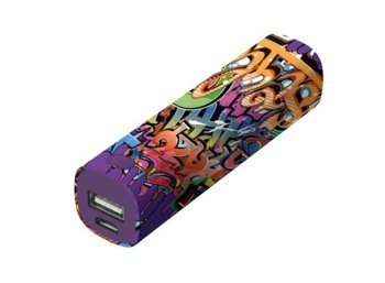 Trust UrbanRevolt Tag PowerStick Portable Charger 2600 - graffiti text