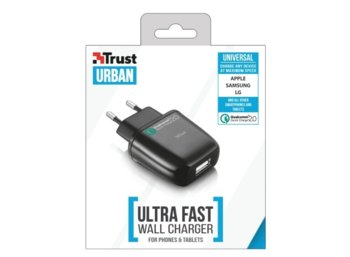 Trust UrbanRevolt Ultra Fast Wall Charger for phones & tablets