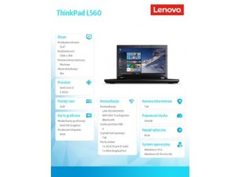 Lenovo ThinkPad L560 20F10022PB