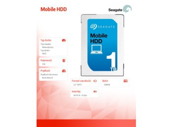 Seagate Mobile HDD 1TB 2,5'' 128MB, ST1000LM035