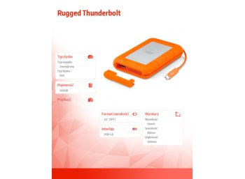 "LaCie RuggedThunderb SSD 500 GB 2,5"" LAC9000491"