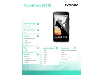 Evolveo StrongPhone Q6 Android 5.1 IP67 QuadCore