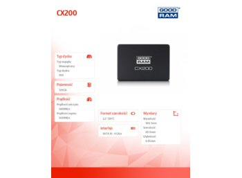 GOODRAM CX200 120GB  SATA3 2,5 560/500MB/s 7mm