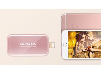 Adata Dashdrive I-memory UE710 128GB USB3.0+ Lightning Rose Gold