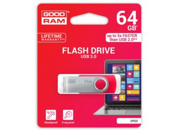 GOODRAM TWISTER RED 64GB USB3.0